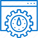 gear, internet, optimization, performance, seo, speed, webpage icon