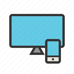 computer, phone, responsive, technology, user, web, website icon