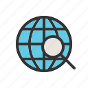find, global, globe, magnifying, search, sign, world icon