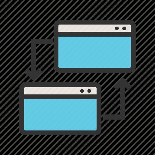 code, data, media, ping, social, website icon