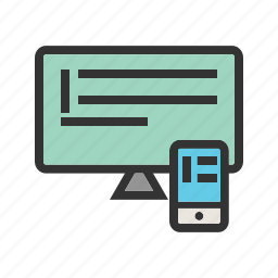 pad, page, phone, responsive, screen, touch, web icon
