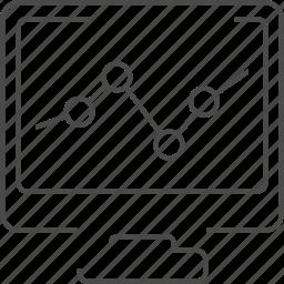 diagram, monitoring, rating, seo icon