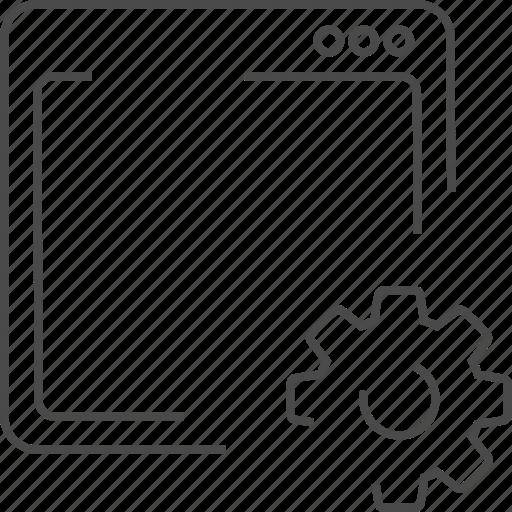 maintenance, optimization, service, web icon