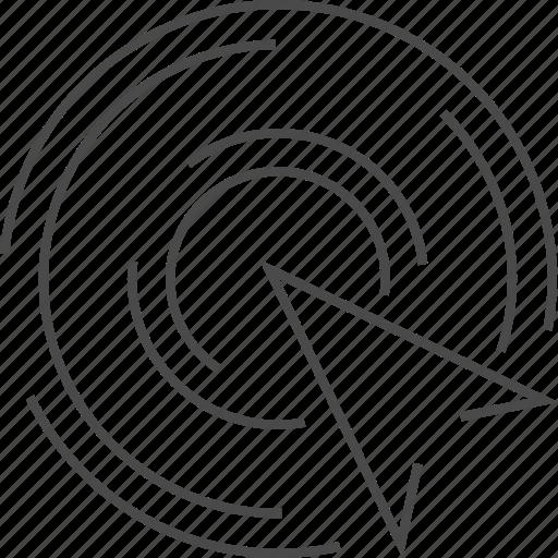 arrow, click, optimization, target icon