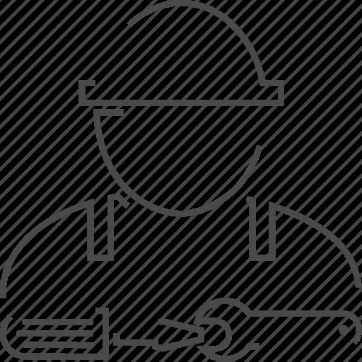 engineer, person, service, technician icon