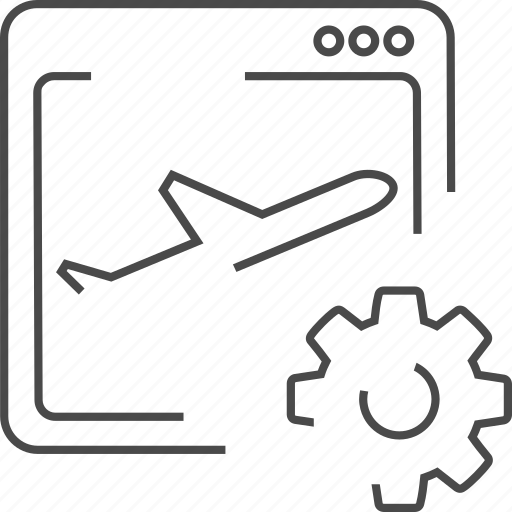 landing, optimization, page, plane icon