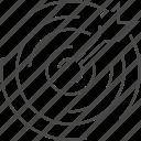 arrow, dart, target, targetting icon