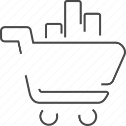 basket, ecommerce, ranking, solutions icon