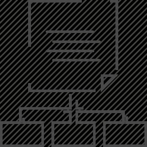 downline, network, sitemap, upline icon