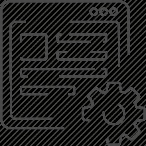 Content, management, setting, content management icon