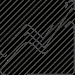graphic, permormance, seo, uphill icon