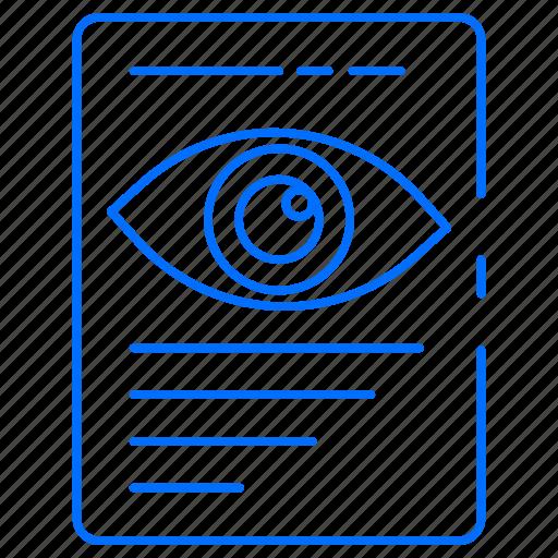 bodypart, ent, eye, eyesight icon