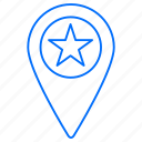 location, navigation, star icon