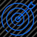 dart, focus, game, target icon