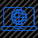 computer, globe, laptop, world
