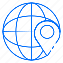 globe, location, map, navigation, world icon