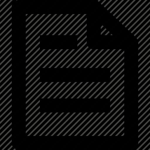 document, paper, seo, text icon