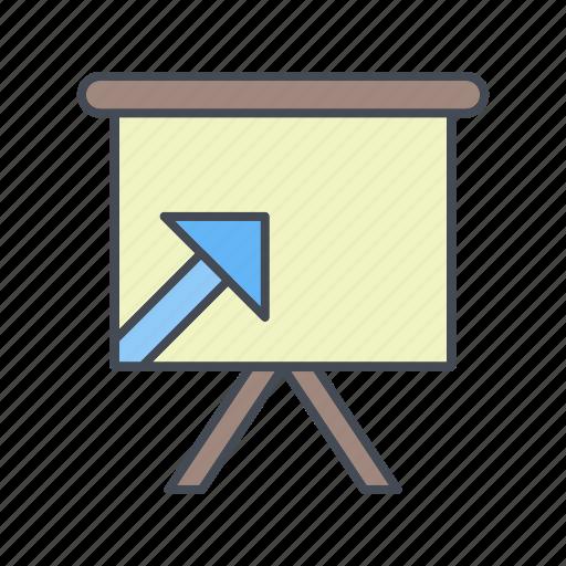 board, graph, meeting, presentation icon