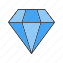 diamond, gem, gemstone, jewellery, jewelry icon