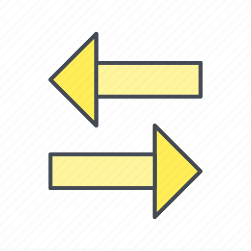 arrows, left right, transfer, two way icon