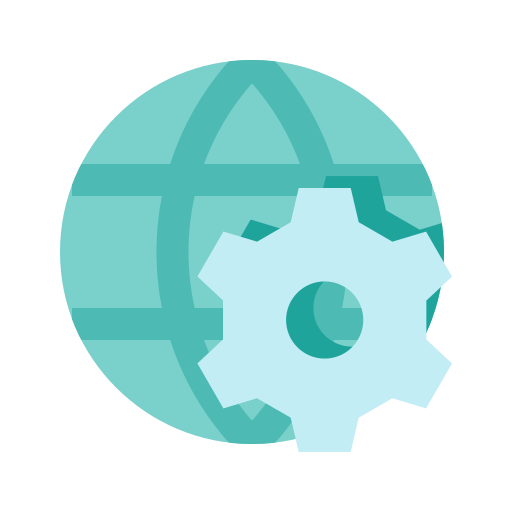 development, setting, web, world icon