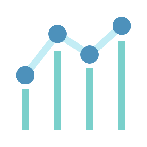 benchmark, chart, graph, seo icon
