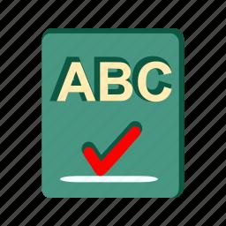 business-report, checker, checklist, paper, report, spellchecker, text icon