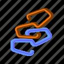 broken, business-link, database, link, network, server, website-broken-link icon
