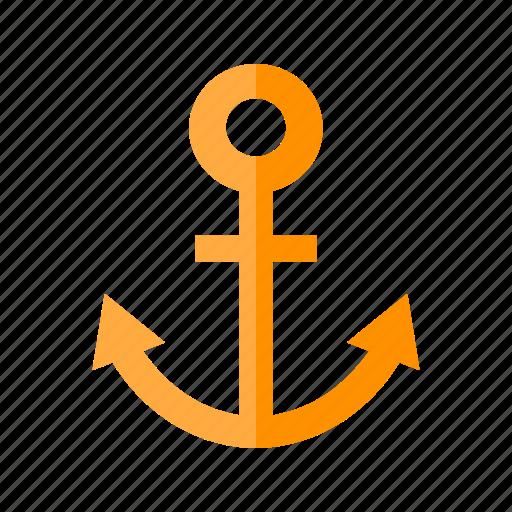 anchor, cruiseship, internet, link building, metal, nautical, seo icon