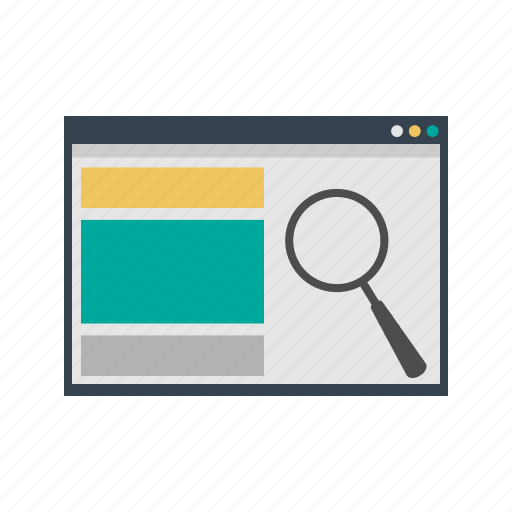 analysis, analytics, magnifying glass, optimization, search, searching, web icon