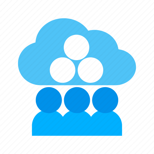 business, cloud, computing, inernet, network, people, technology icon