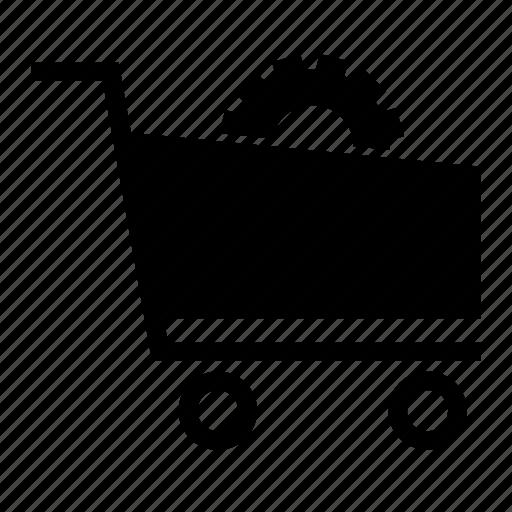 cog, configuration, ecommerce, eshopping, setting, settings, shopping cart icon