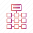 connection, gradient, network, server, servers icon