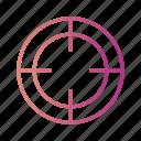 aim, focus, goal, gradient, target icon