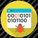 browser, bug, chrome, crawler, programming, source code, web icon icon