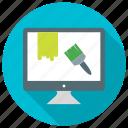 art, brush, design, interface, paint, web design icon icon