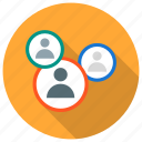affiliate, audience, group, management, people, team, teamwork icon icon
