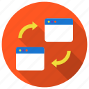 api, browser, connection, pingback, refresh, sync, transfer icon icon