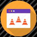 cone, fix, maintenance, repair, traffic, under construction, web icon icon