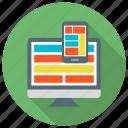 design, responsive, web, web design icon icon