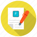 article, blogging, document, not, text, timing, writing icon icon