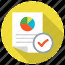 chart, check, monitoring, pie, profit, report, sales icon