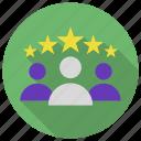 business, customer, leadership, star, team, testimonial icon icon