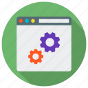 content management, page, setting, settings, web, website icon icon