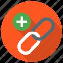 add, create, link, plus icon icon