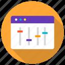 adjust, design, modify, optimization, seo, web, website icon icon