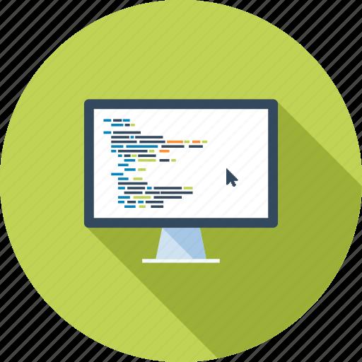 coding, computer, development, optimization, program, software, web icon