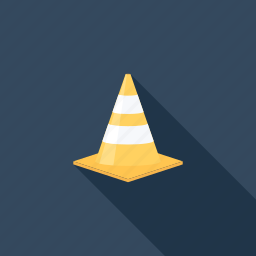 building, cone, construction, road, site, traffic, warning icon