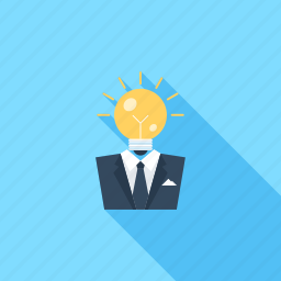 brainstorming, bulb, business, idea, imagination, light, solution icon