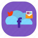 cloud, media, seo icons, seo pack, seo services, seo tools, social icon